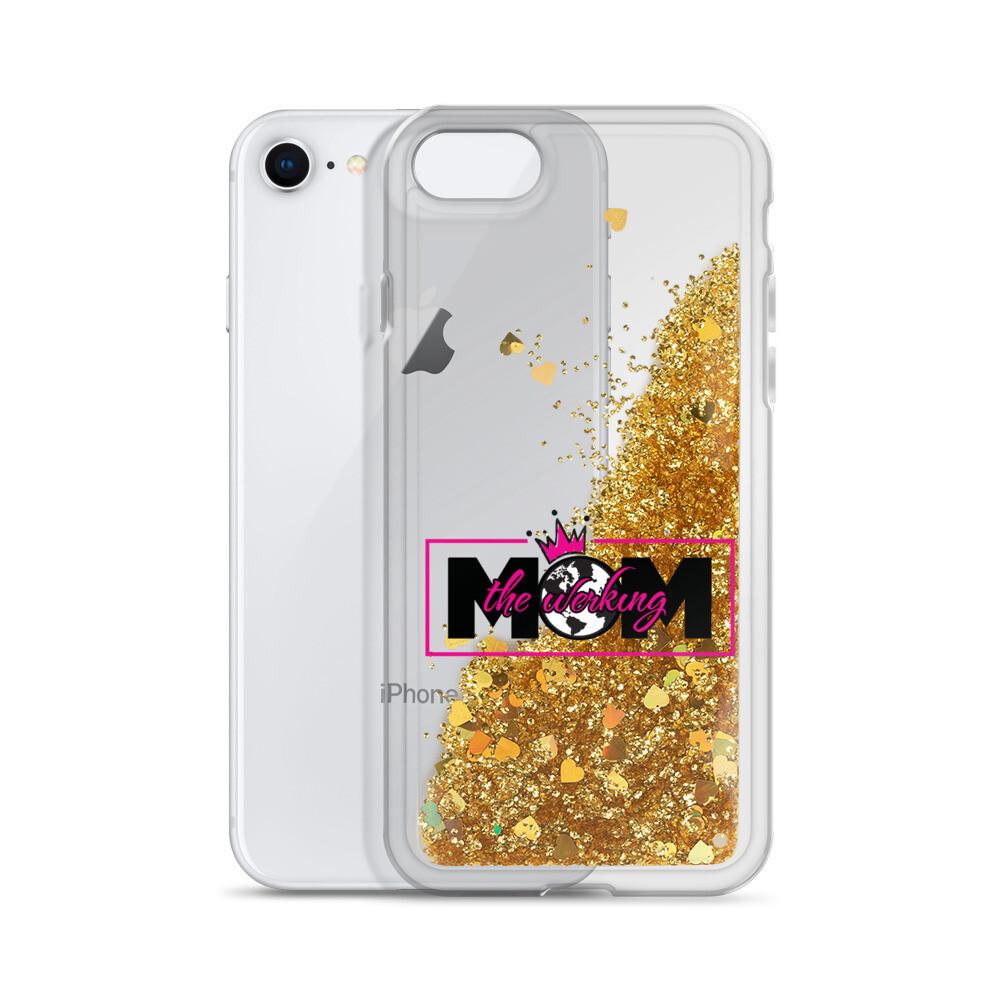 The Werking Mom Logo Liquid Glitter Phone Case