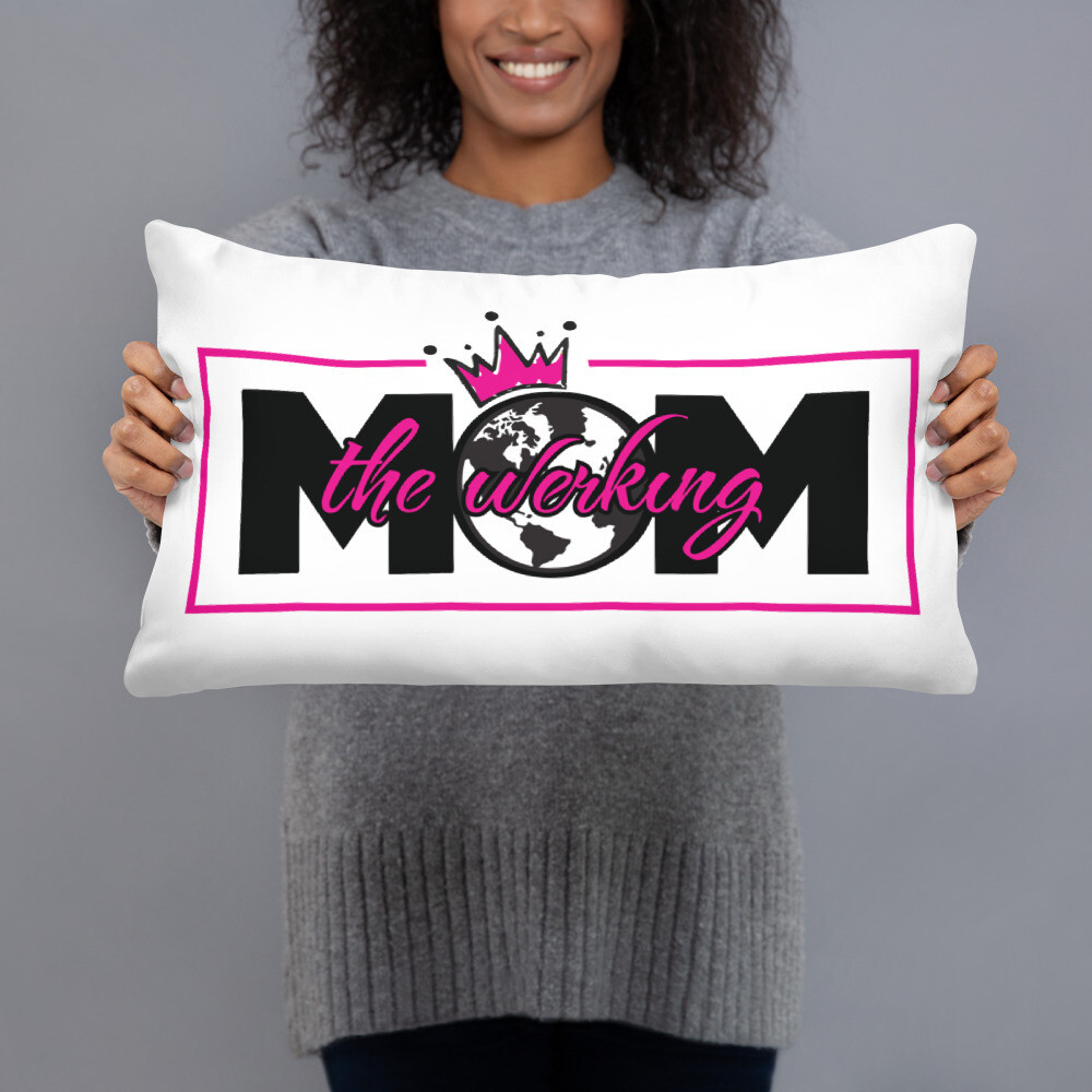 The Werking Mom Logo Basic Pillow