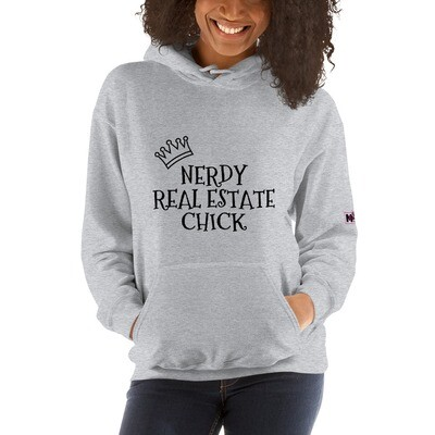 Nerdy Real Estate Chick Hooded Sweatshirt
