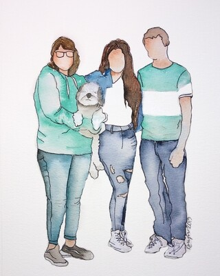 Your Custom Faceless Family Portrait