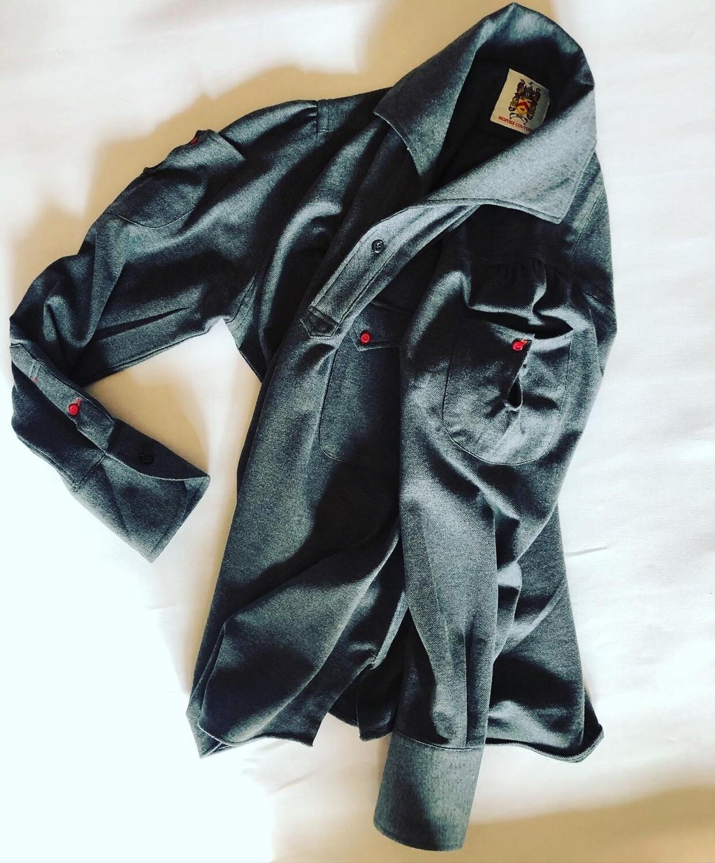 The Clark Knit Popover in Grey