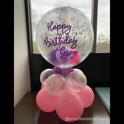 Birthday Bubble Balloon Cluster
