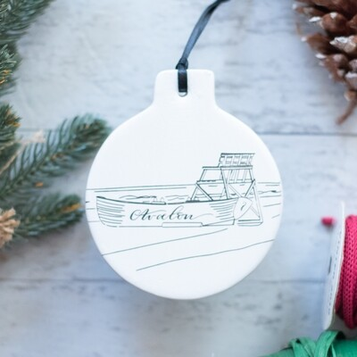 Avalon Lifeguard Boat Ornament