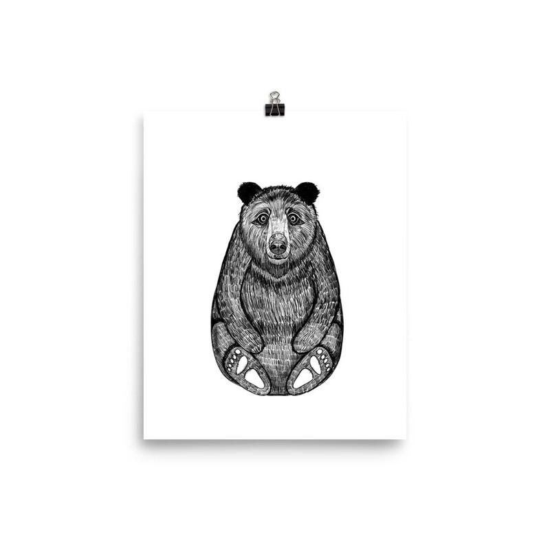 Inky  Bear Print