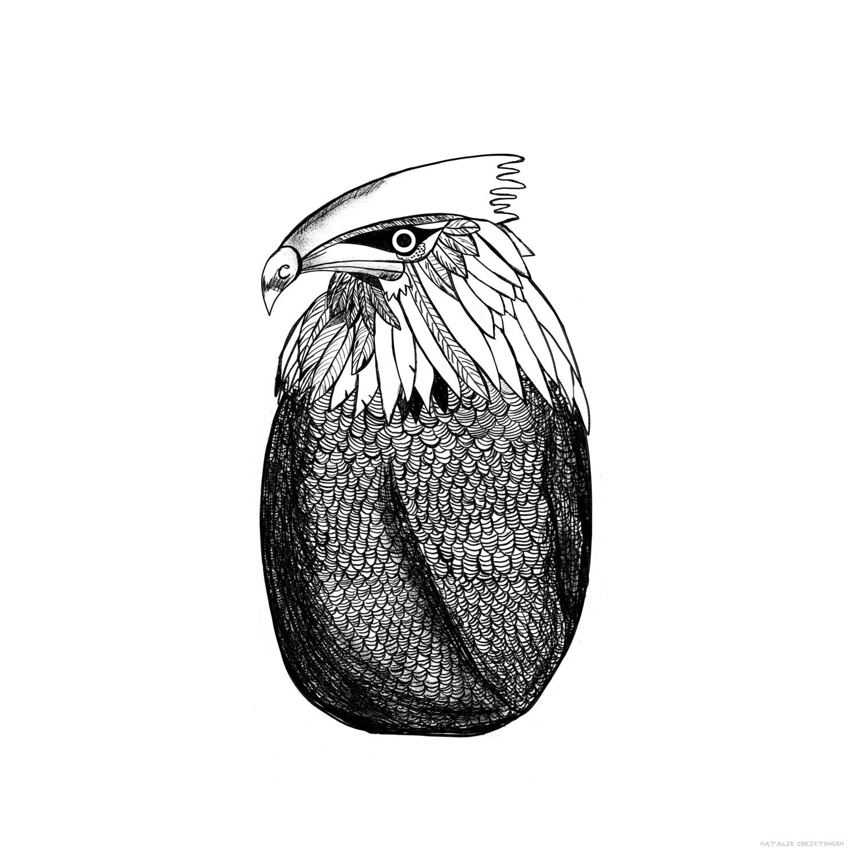Inky Animal Eagle