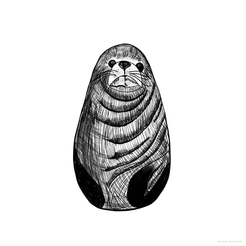 Inky Animal Sea Lion
