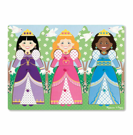 Dress Up Princess peg Puzzle