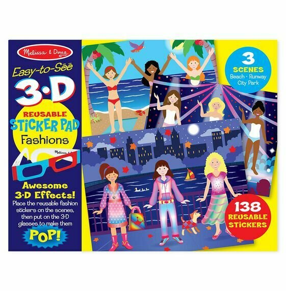 3-D Reusable Sticker Book -fashion
