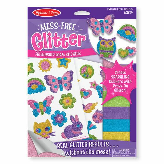 Friendship Foam Stickers - Mess-Free Glitter
