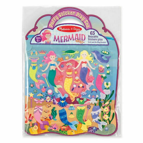 Puffy Stickers Mermaid