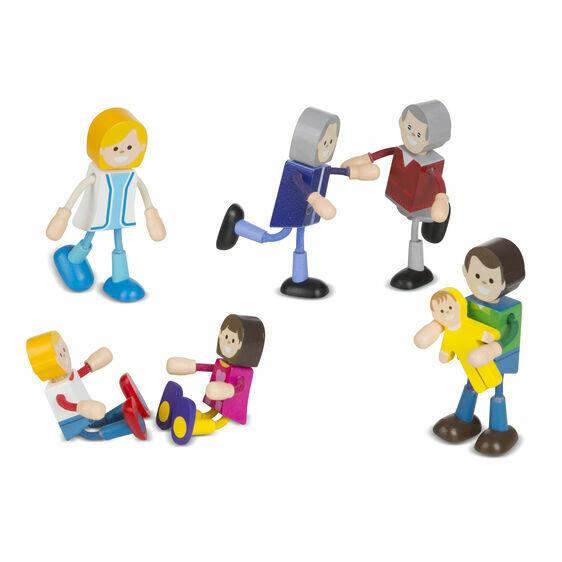 Family -Wooden Flexible Figures
