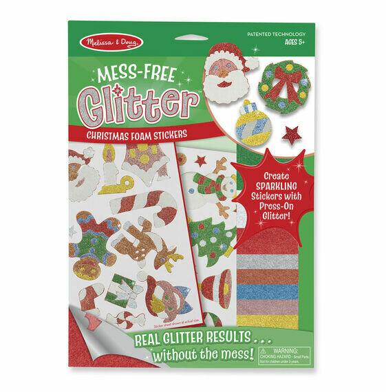Mess-Free Glitter - Christmas Stickers