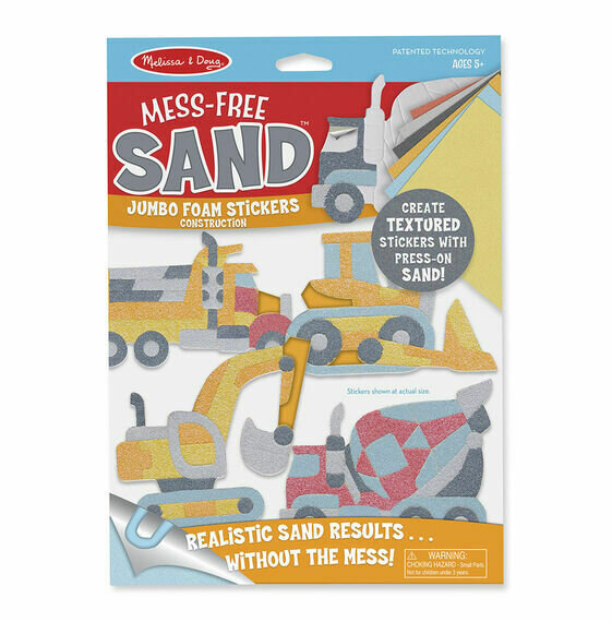 Construction Foam Stickers - Mess free Sand