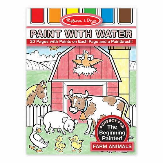 Paint with Water- farm animals