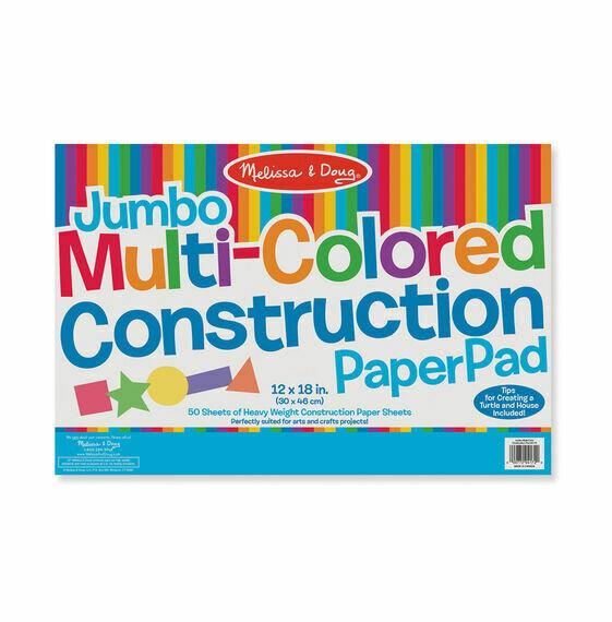 "Jumbo Multi-Color Construction Pad (12""x18"")"