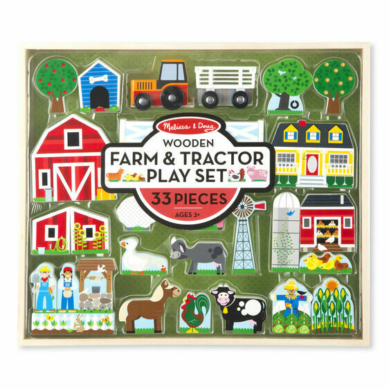 Farm & Tractor Play Set
