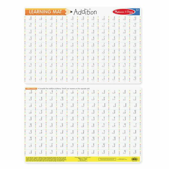 Addition learnig mat