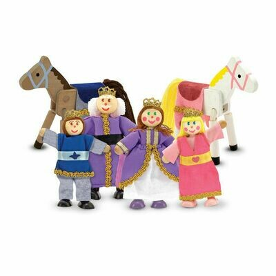 Royal Family wooden doll