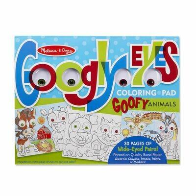Wacky Faces - Googly Eyes Coloring Pad