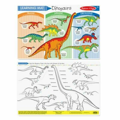 Dinosaurs Learning/coloring Mat