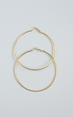Simple Gold Hoop - BLACKDOLL ACCESSORIES