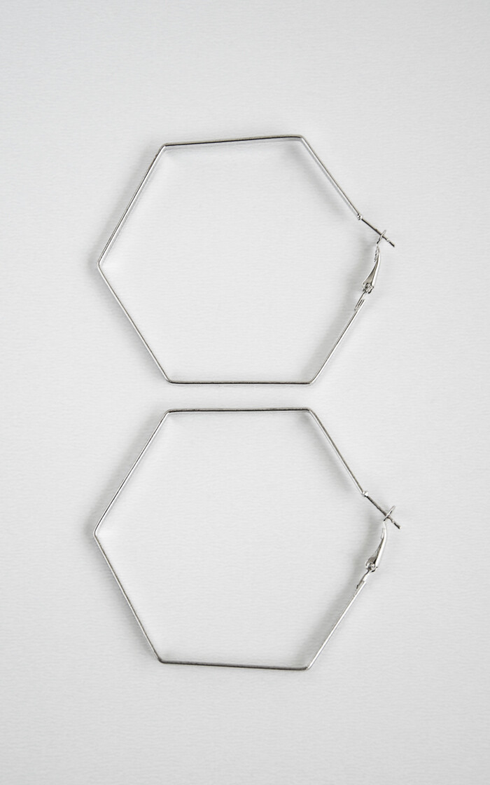 Big Silver Hexagon - BLACKDOLL ACCESSORIES
