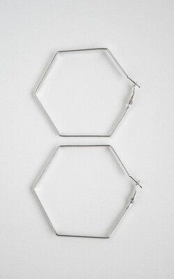 Big Silver Hexagon - BLACKDOLL ACCESSORIES