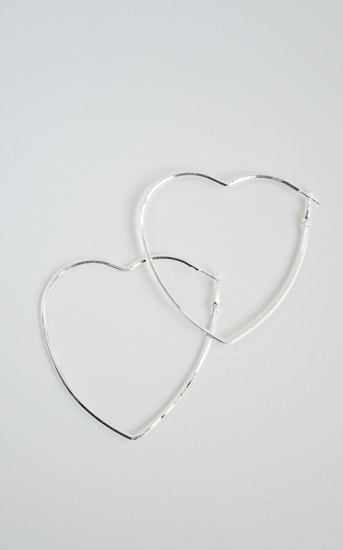 Big Silver Heart - BLACKDOLL ACCESSORIES