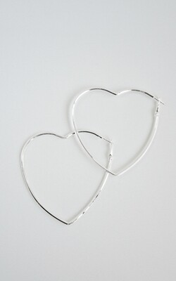 Big Silver Heart - BLACKDOLL ACCESSORIES