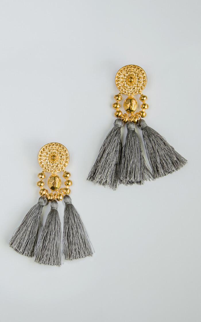 Modern Golden Grey Earrings - BLACKDOLL ACCESSORIES