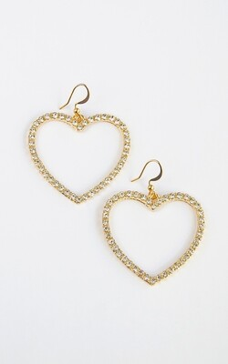 Shine Hearts Earrings - BLACKDOLL ACCESSORIES