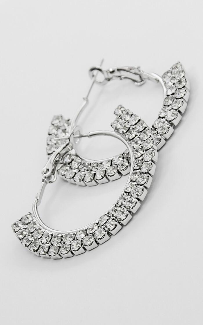 Shiny Hoop Earrings - BLACKDOLL ACCESSORIES