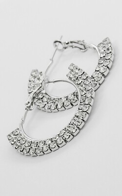 Shiny Hoop Earrings - BLACKDOLL ACCESSORIES
