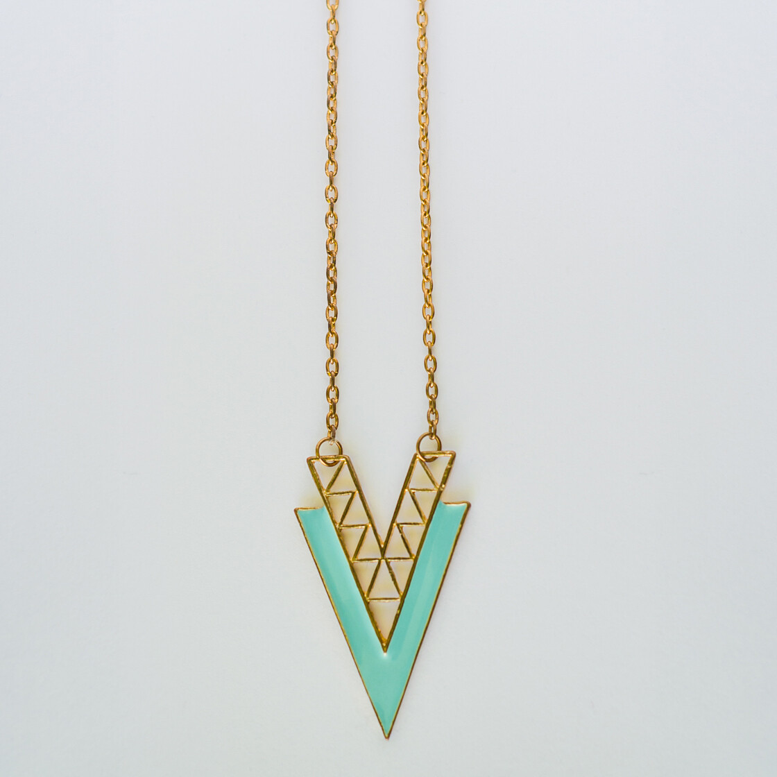 Turquose Triangle Necklace - BLACKDOLL ACCESSORIES