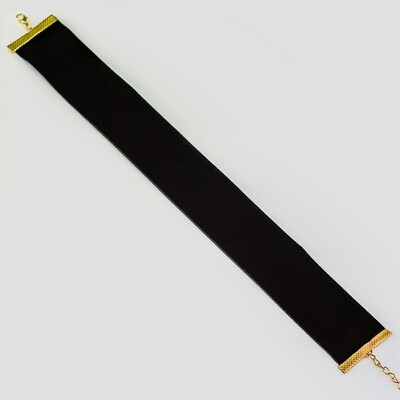 Simple Black Velvet Choker - BLACKDOLL ACCESSORIES