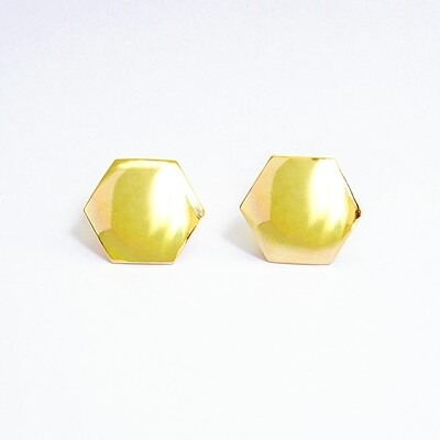 Big Hexagon Earrings - BLACKDOLL ACCESSORIES