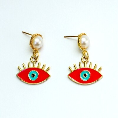 Red Eye Earrings - BLACKDOLL ACCESSORIES