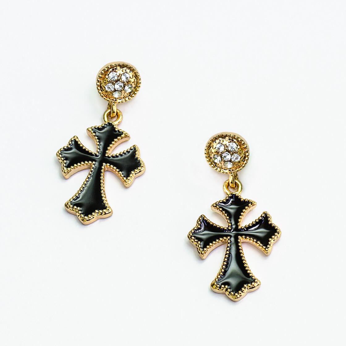 Goth Cross Earrings - BLACKDOLL ACCESSORIES