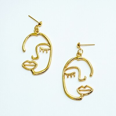 Half Face Earrings - BLACKDOLL ACCESSORIES