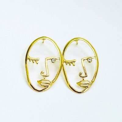 Oval Face Earrings - BLACKDOLL ACCESSORIES
