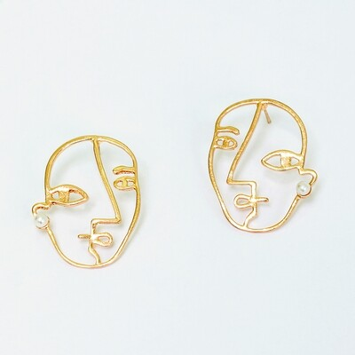 Picasso Face Earrings BLACKDOLL ACCESSORIES