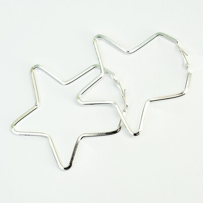 Silver Star Earrings - BLACKDOLL ACCESSORIES
