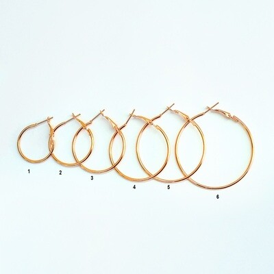 Rose Gold Hoops - BLACKDOLL ACCESSORIES