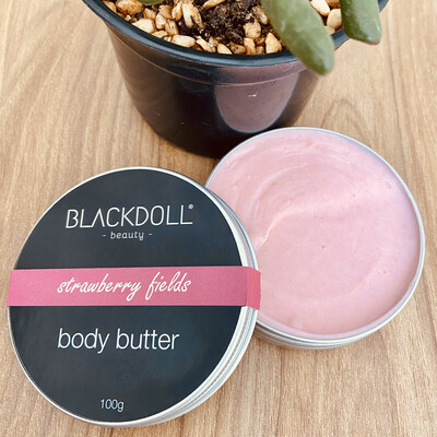 Manteca Corporal de Fresas con Crema / Body Butter Strawberry Fields - BLACKDOLL BEAUTY