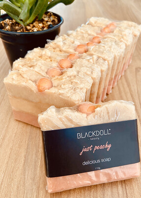 Jabón Delicioso de Durazno Chabacano / Delicious Soap Just Peachy - BLACKDOLL BEAUTY