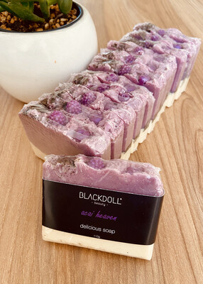 Jabón Delicioso de Acai / Delicious Soap Acai Heaven - BLACKDOLL BEAUTY