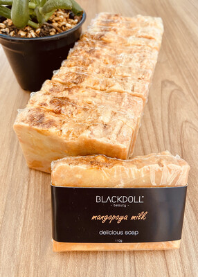 Jabón Delicioso de Mango Papaya / Delicious Soap Mangopaya - BLACKDOLL BEAUTY