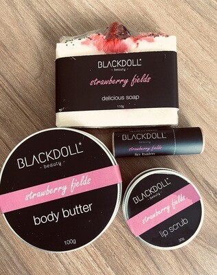 Súper Kit Strawberry Fields / Fresas con Crema - BLACKDOLL BEAUTY
