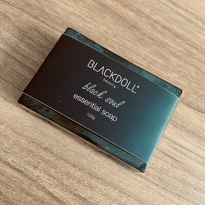 Jabón Esencial de Carbón con Aloe Vera/Essencial Soap Black Soul para Piel Grasa y Acné - BLACKDOLL BEAUTY