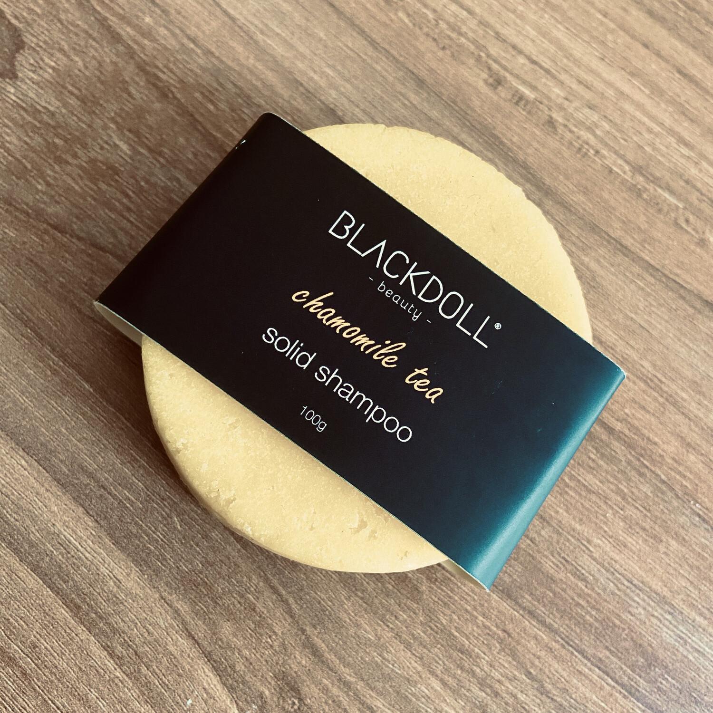 Shampoo Sólido de Manzanilla/Solid Shampoo Chamomile Tea para Cabello Seco, Relajante, Aclarante Natural - BLACKDOLL BEAUTY